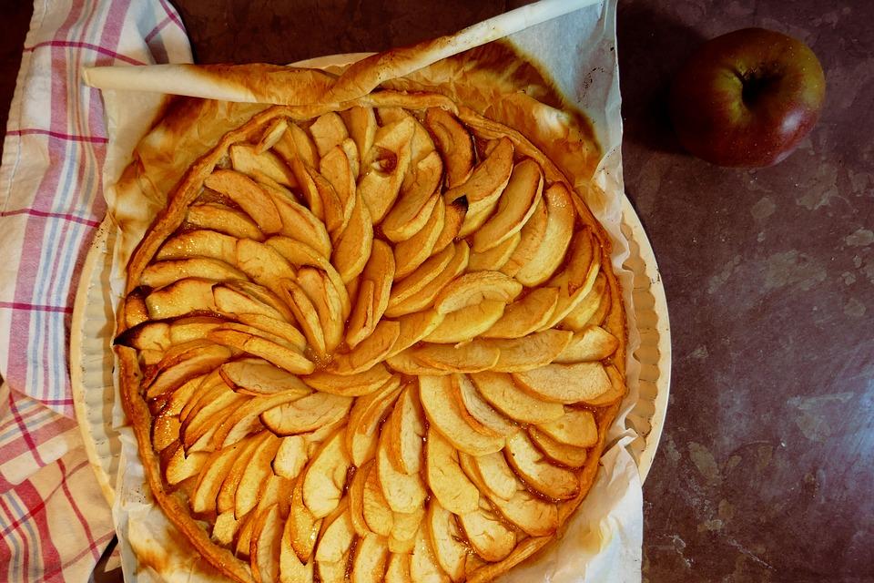 tarte aux pommes décoration