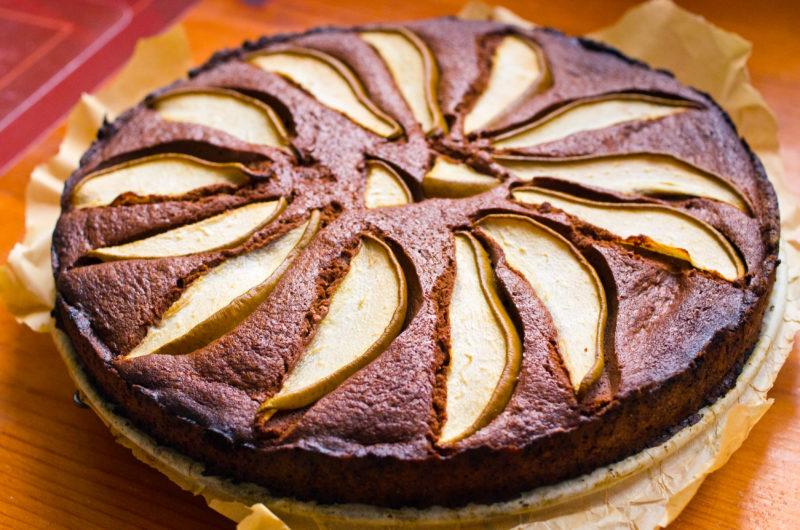 Gâteau aux pommes et au chocolat
